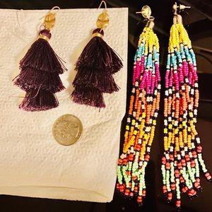 Francesca's Purple Earrings & Forever 21